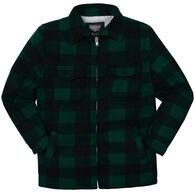 Maxxsel Apparel Men's Buffalo Plaid Sherpa-Lined Long-Sleeve Shirt
