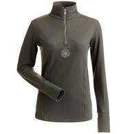 NILS Women's Sophie Quarter-Zip Turtleneck Long-Sleeve Top