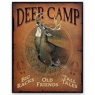 Wild Wings Deer Camp Tin Sign