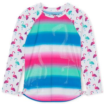 Hatley Toddler Girls Fancy Flamingos Long-Sleeve Rashguard Top