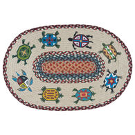 Capitol Earth Turtles Oval Patch Rug