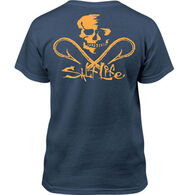 Salt Life Youth Skull and Hooks Short-Sleeve T-Shirt
