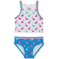 Hatley Girl's Fancy Flamingos Tankini Set, 2-Piece