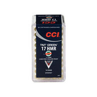 CCI TNT Green 17 HMR 16 Grain TNT Green HP Rimfire Ammo (50)