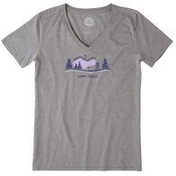 Life is Good Women's Happy Trails Vista Cool Vee Short-Sleeve T-Shirt
