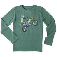 Life is Good Boy's Dirt Bike Rider Crusher Long-Sleeve Shirt