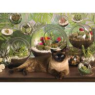 Outset Media Jigsaw Puzzle - Terrarium Cat