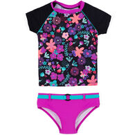 Noruk Toddler Girl's Floral Tankini Two-Piece Swimsuit