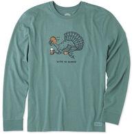 Life is Good Men's Turkey Run Crusher Tee Long-Sleeve T-Shirt