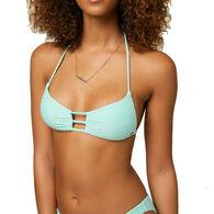 O'Neill Women's Coronado Saltwater Solids Textured Bralette Bikini Top