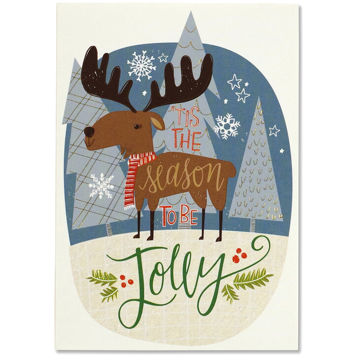 Peter Pauper Press Merry Moose Small Boxed Holiday Cards | Kittery ...