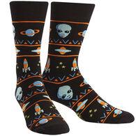 Sock It To Me Men's Alien Sweater Sighting Crew Sock