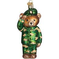 Old World Christmas Army Bear Ornament