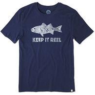 Life is Good Men's Keep It Reel Fish Smooth Short-Sleeve T-Shirt