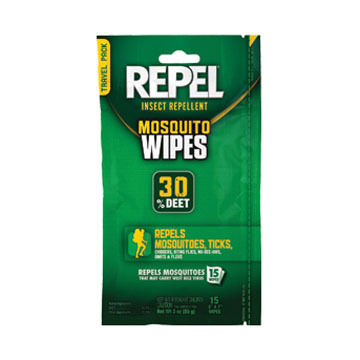 Repel Insect Repellent Mosquito Wipes - 15 Pk.