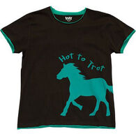 Lazy One Women's Hot To Trot Fitted Sleep T-Shirt
