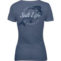 e1d031c2bed236 Salt Life Women's Mermaid Paradise V-Neck Short-Sleeve T-Shirt