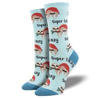 Socksmith Design Women's Super Lazy Sloth Crew Sock