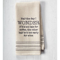 Mona B Wonder Embroidered Waffle Weave Dishtowel