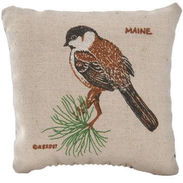Maine Balsam Fir 4 x 4 Chickadee Balsam Pillow