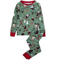 Hatley Little Blue House Boys' & Girls' Northern Winter Pajama Set