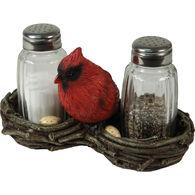 Rivers Edge Cardinal Salt & Pepper Shaker Set, 2-Piece