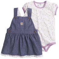 Carhartt Infant Girl's Chambray Jumper Short-Sleeve Set
