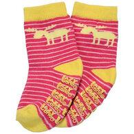 Lazy One Infant Girls' Stripe Moose Sock