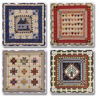Ridge Top Kountry Krystal American Quilts Coasters, 4-Pack