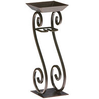 DECO FLAIR Scroll Candle On A Rope Candle Holder