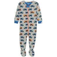 Hatley Infant Boy's Dump Trucks Organic Cotton Footed Coverall