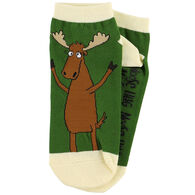 Lazy One Women's Moose Hug Slipper Sock