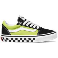 Vans Boys' Checker Tape Ward Canvas Slip-On Shoe