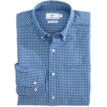 Southern Tide Mens Channel Marker Gingham Sport Long-Sleeve Shirt