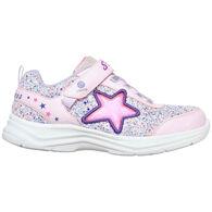 Skechers Girls' S Lights - Glimmer Kicks - Starlet Shine Lights Athletic Shoe