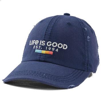 Life is Good Mens Rainbow Blocks Sunwashed Chill Cap