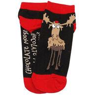 Lazy One Women's Chocolate Moose Slipper Sock