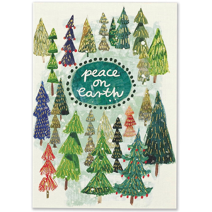 Peter Pauper Press Festival of Trees Small Boxed Holiday Cards ...