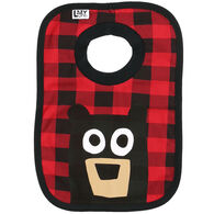 Lazy One Infant Bear Plaid Bib