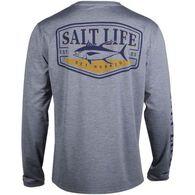 Salt Life Men's Hooked Tuna Badge Performance Pocket Long-Sleeve T-Shirt