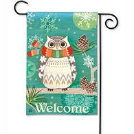 BreezeArt Winter Owl Garden Flag