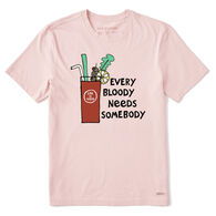 Life is Good Men's Every Bloody Needs Somebody Crusher Short-Sleeve T-Shirt