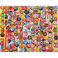 White Mountain Jigsaw Puzzle - Vintage Soda Bottle Caps