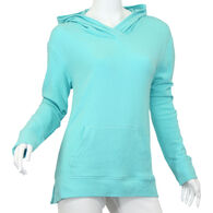 North River Women's Cotton Poly Cross Over Crew Neck Hoodie