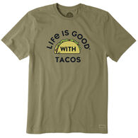Life is Good Men's LIG With Tacos Crusher Short-Sleeve Sleep T-Shirt