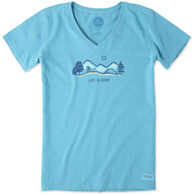 Life is Good Women's Hike Vista Crusher Vee Short-Sleeve Shirt