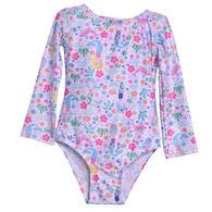 Flap Happy Toddler Girl's Charlie Rashguard Long-Sleeve Swimsuit