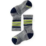 SmartWool Boys' & Girls' Striped Hike Light Crew Sock