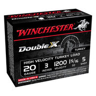"Winchester Double X 20 GA 3"" 1-5/16 oz. #5 Shotshell Ammo (10)"