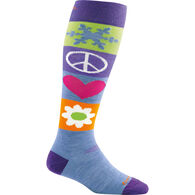 Darn Tough Vermont Women's Peace Love Snow Over-The-Calf Cushion Sock
